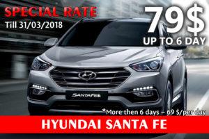 Pirel Car Rental Hyundai Santa Fe
